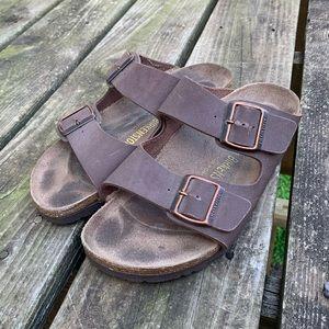 2 Strap Birkenstock Sandals Size 38